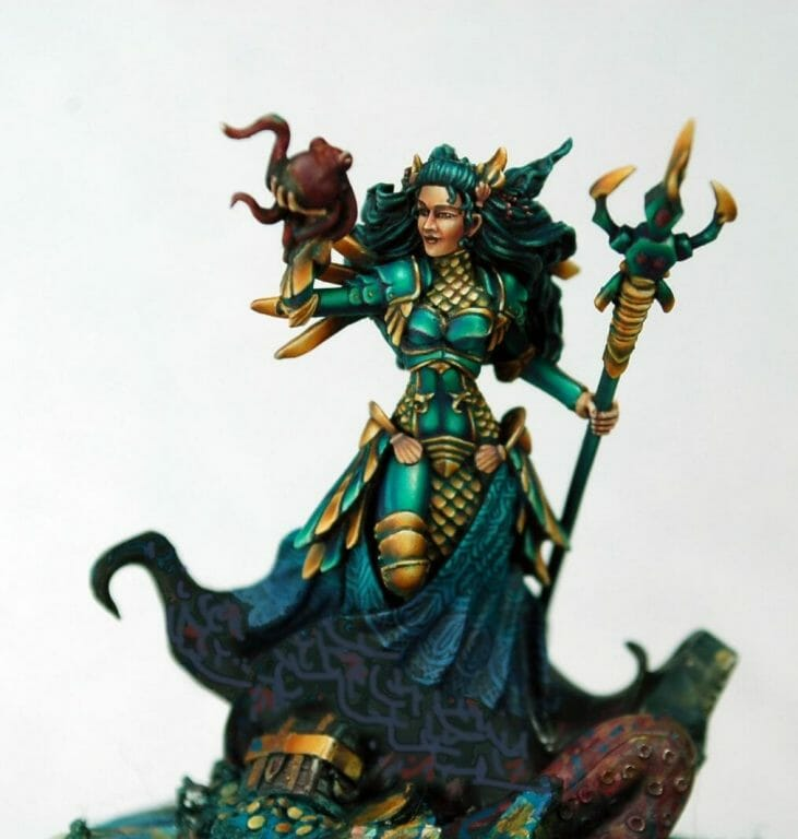 How to paint miniatures competitively – how to paint for competition – painting contest – how to win a painting contest – Marike Reimer miniature painting – interview with Marike Reimer about the Kraken Mistress – how to paint miniatures like a pro – how to paint miniatures professionally – best miniature painting tutorials – how to freehand a miniature using multiple tools and approaches