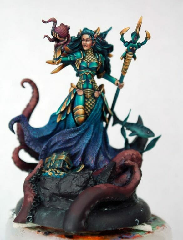 How to paint miniatures competitively – how to paint for competition – painting contest – how to win a painting contest – Marike Reimer miniature painting – interview with Marike Reimer about the Kraken Mistress – how to paint miniatures like a pro – how to paint miniatures professionally – best miniature painting tutorials – basing the model