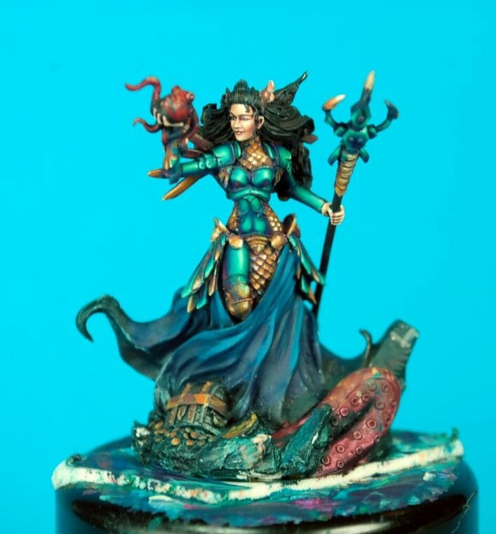 How to paint miniatures competitively – how to paint for competition – painting contest – how to win a painting contest – Marike Reimer miniature painting – interview with Marike Reimer about the Kraken Mistress – how to paint miniatures like a pro – how to paint miniatures professionally – best miniature painting tutorials – face painting miniatures including eyes