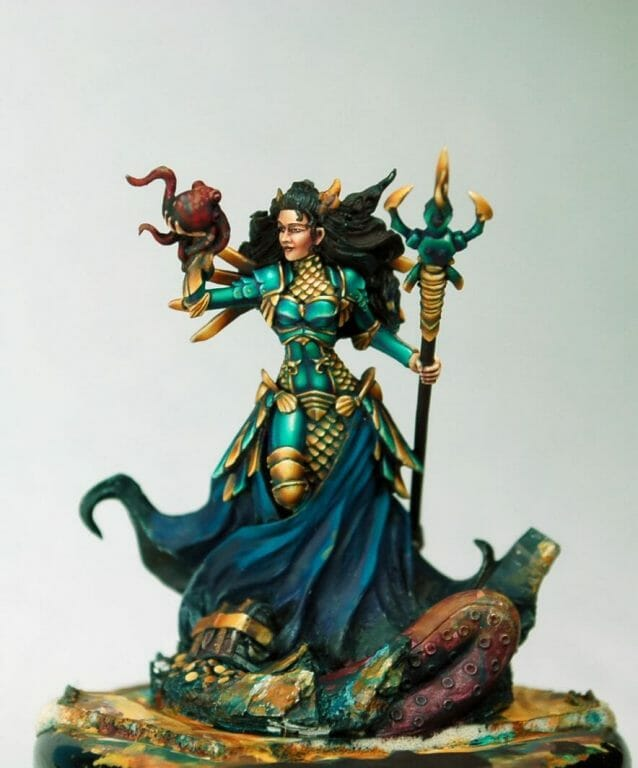 How to paint miniatures competitively – how to paint for competition – painting contest – how to win a painting contest – Marike Reimer miniature painting – interview with Marike Reimer about the Kraken Mistress – how to paint miniatures like a pro – how to paint miniatures professionally – best miniature painting tutorials – how to paint armor
