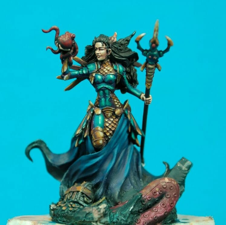How to paint miniatures competitively – how to paint for competition – painting contest – how to win a painting contest – Marike Reimer miniature painting – interview with Marike Reimer about the Kraken Mistress – how to paint miniatures like a pro – how to paint miniatures professionally – best miniature painting tutorials – refined eyes and face - how to paint skin tones