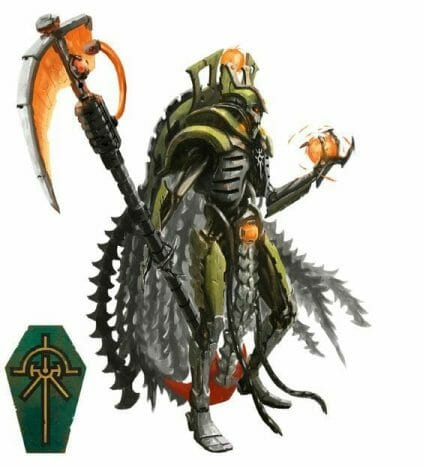 Necron Paint Schemes - 9 Color Motifs - how to paint Necrons - color schemes for Necrons, Necron Warriors, Sautekh or Zathanor Dynasty, and Necron dynasties - Indomitus Warhammer 40k Necron range color palette - 9 color schemes for Necron models and miniatures from Citadel Games Workshop - concept drawing art
