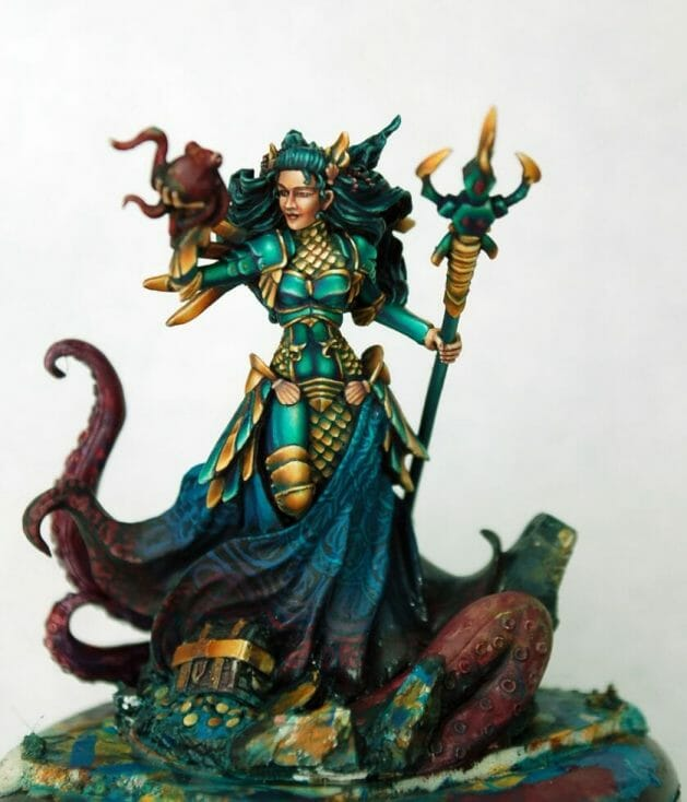 How to paint miniatures competitively – how to paint for competition – painting contest – how to win a painting contest – Marike Reimer miniature painting – interview with Marike Reimer about the Kraken Mistress – how to paint miniatures like a pro – how to paint miniatures professionally – best miniature painting tutorials – wip freehand design