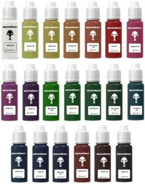Best 15 inks for painting miniatures and models - citadel wash set - best inks for miniature painting - best inks for models - how to use inks on miniatures - inks for painting miniatures - Warcolours ink review