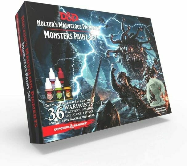 Top 10 best miniature paint set – best miniature paint sets review  –  best model paints for new painters – best paints for painting miniatures and models – Where to begin painting tabletop wargaming miniatures – miniature painting kits and supplies - Monster paint set for Dungeons and Dragons