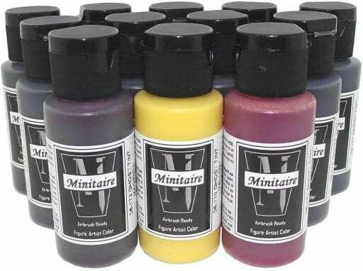 Best airbrush paint for miniatures and models – airbrush paints for models – miniature airbrush paint – review airbrush paint sets for models – citadel airbrush paint – painting multiple models with an airbrush quickly - Badger ghost tint review