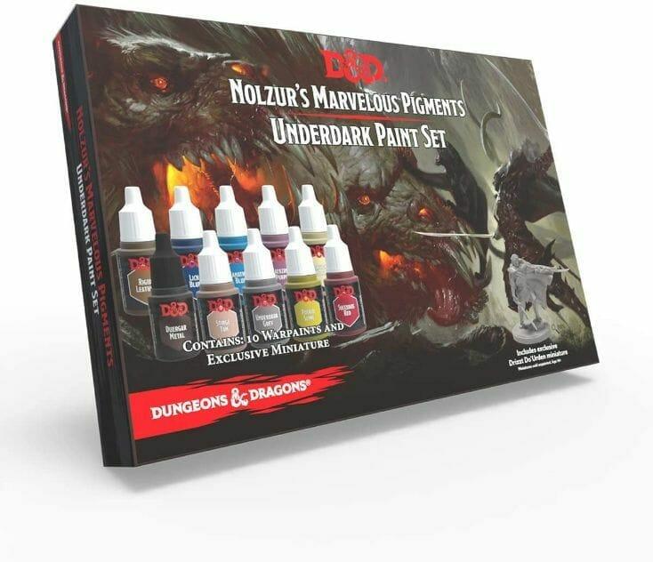 Top 10 best miniature paint set – best miniature paint sets review  – miniature painting kits and supplies - Dungeons and Dragons Underdark paint set review
