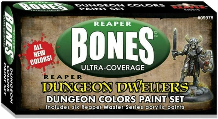 Top 10 best miniature painting starter kits – miniature paint kits review - best miniature paints for starters and newbies – best model paints for new painters – best paints for painting miniatures and models – Where to begin painting tabletop wargaming miniatures – miniature painting kits and supplies - Reaper Bones Dungeon Colors Paint set review