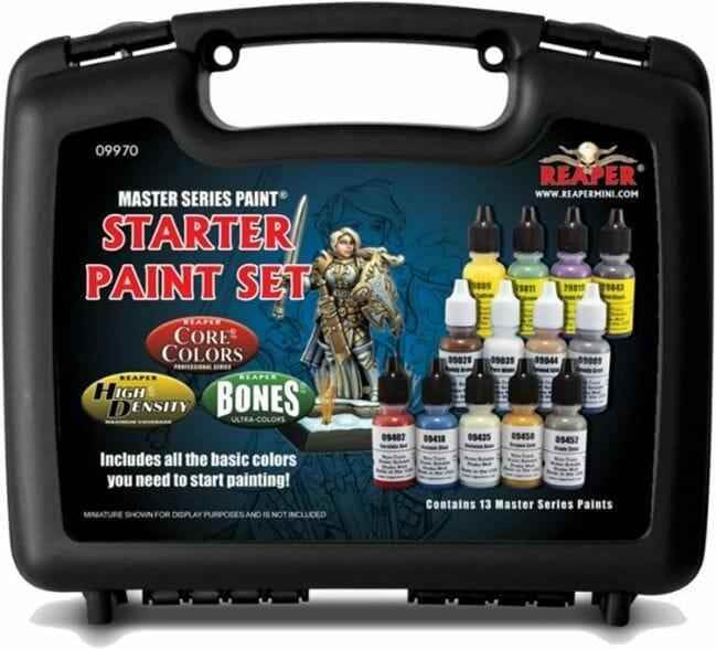 Top 10 best miniature paint set – best miniature paint sets review  – Where to begin painting tabletop wargaming miniatures – miniature painting kits and supplies - Reaper Paint Set