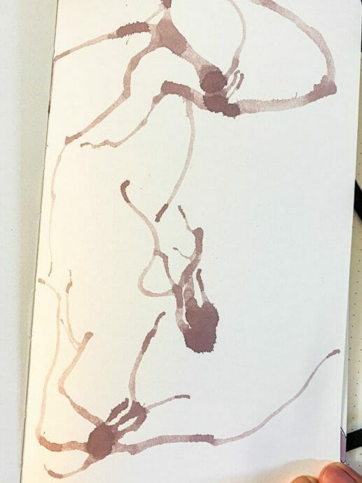 neuron doodles and art - drawing neurons and neuroscience art - the secret of complexity - a neuron grows from nothing - a drawing with pen and paper- nature must make sense - neuron doodles with splatter air and airbrush ink