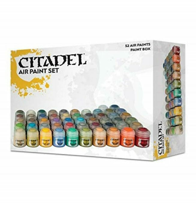 Best airbrush paint for miniatures and models – airbrush paints for models – miniature airbrush paint – review airbrush paint sets for models – citadel airbrush paint – painting multiple models with an airbrush quickly - citadel air paint set review