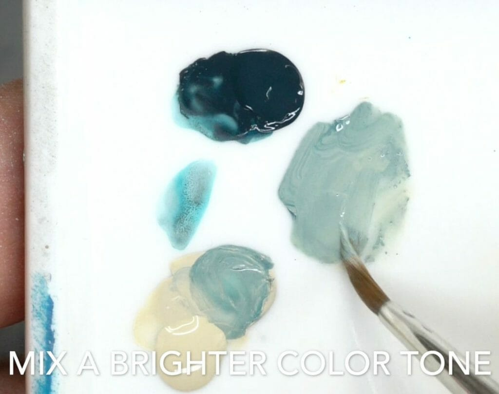 How to layer and glaze miniatures. Layering and glazing paint on miniatures and models for blending color. How to layer and glaze to blend miniature paint. Blending tutorial for painting miniatures. How to make glazes for blending acrylic paint. Mix the second midtone