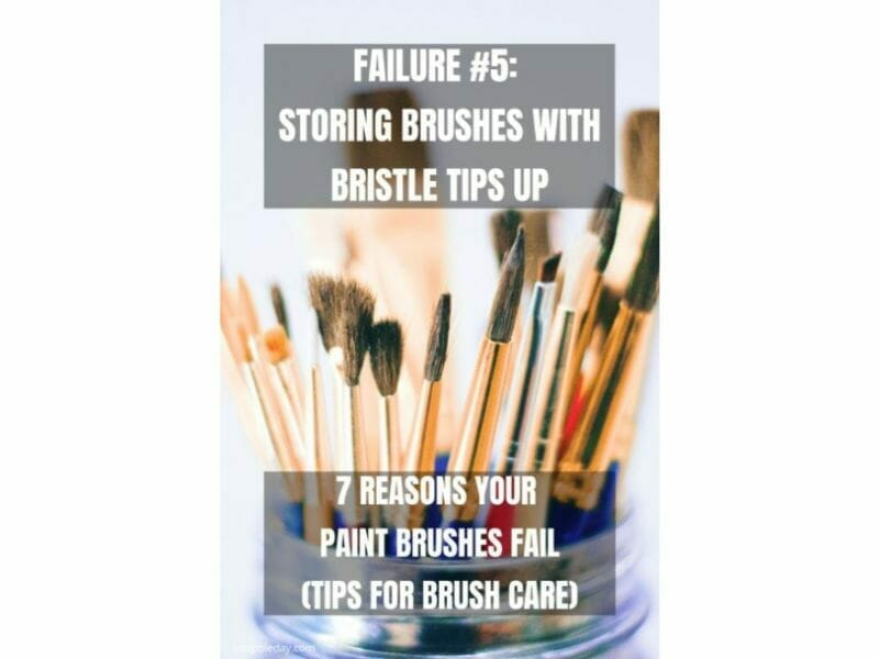 7 Reasons why brushes for miniature painting fall apart - reasons for paintbrush failure - ways to take care of your paint brushes - miniature paint brush care and maintenance - tips for brush care for modelers and hobbyists - paintbrush cleaning tips and care - don't store brushes tips up