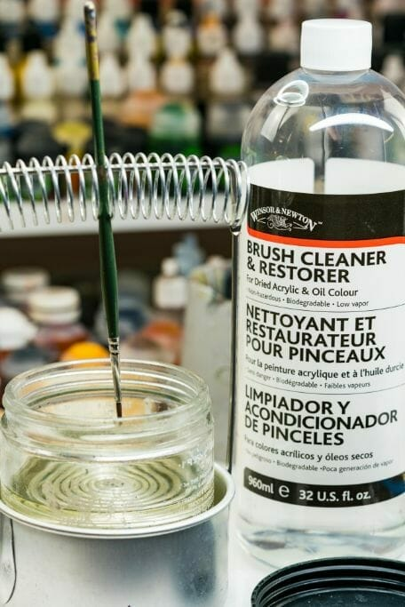 Simple Brush Cleaning Tips and Instructions for Every Miniature Painter - How to clean miniature painting brushes - how to clean kolinsky sable brushes for painting miniatures and models - brush cleaning tips for miniature painters - how to clean brushes for painting miniatures and wargaming models - Brush soap and cleaning use - Use a full strength brush cleaner or restorer for a deeper clean