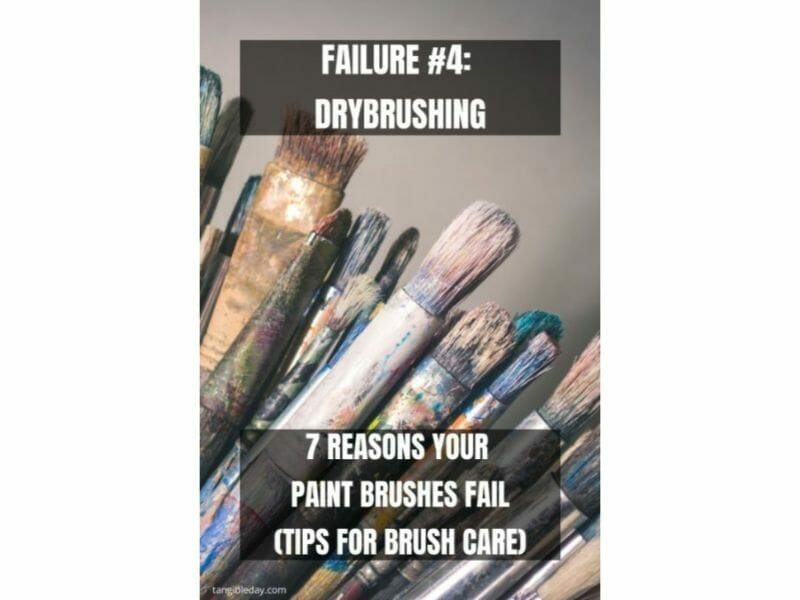 7 Reasons why brushes for miniature painting fall apart - reasons for paintbrush failure - ways to take care of your paint brushes - miniature paint brush care and maintenance - tips for brush care for modelers and hobbyists - paintbrush cleaning tips and care - drybrushing wears down brushes