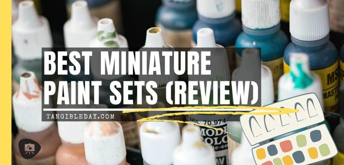 Top 10 best miniature paint set – best miniature paint sets review – miniature painting kits and supplies - banner