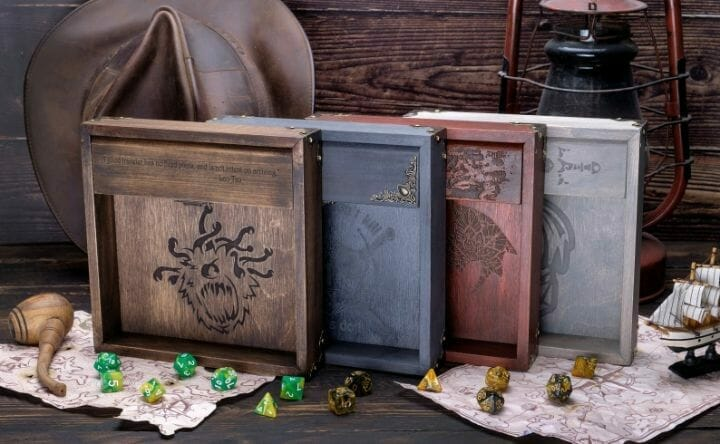 13 Cool Dice Trays for Tabletop Games – best dice trays for wargaming – Warhammer dice tray and storage – best dice tray for Warhammer 40k and miniature games – boardgame dice tray – best dice trays – dice trays for dungeons and dragons, D&D, and roleplaying games (RPG) – D&D Dice Tray Dice Box