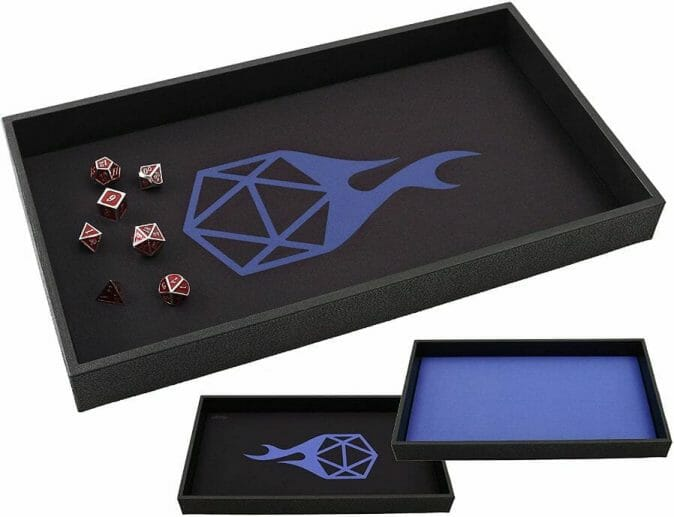 13 Cool Dice Trays for Tabletop Games – best dice trays for wargaming – Warhammer dice tray and storage – best dice tray for Warhammer 40k and miniature games – boardgame dice tray – best dice trays – dice trays for dungeons and dragons, D&D, and roleplaying games (RPG) – Forged Dice Co. Dice Tray