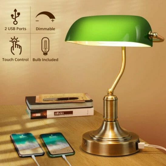 15 Cool Office Lamps for Any Workspace – cool desk lamps – cool lamps – office lamp ideas – unique desk lamps – best lamps for office work – unique office lamp - banker's lamp vintage