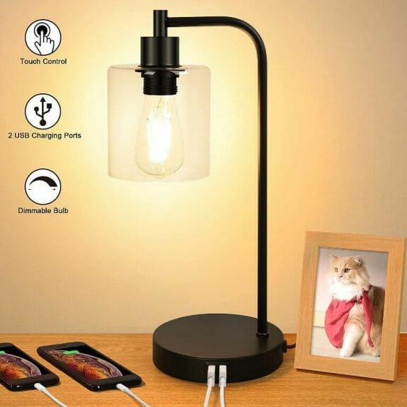 15 Cool Office Lamps for Any Workspace – cool desk lamps – cool lamps – office lamp ideas – unique desk lamps – best lamps for office work – unique office lamp - unique glass shade vintage lamp industrial design