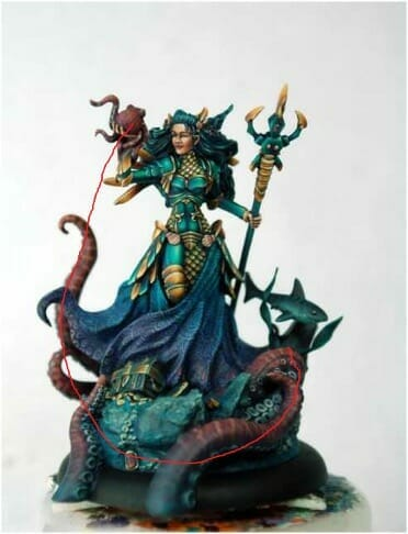 How to paint miniatures competitively – how to paint for competition – painting contest – how to win a painting contest – Marike Reimer miniature painting – interview with Marike Reimer about the Kraken Mistress – how to paint miniatures like a pro – how to paint miniatures professionally – best miniature painting tutorials – painted gems