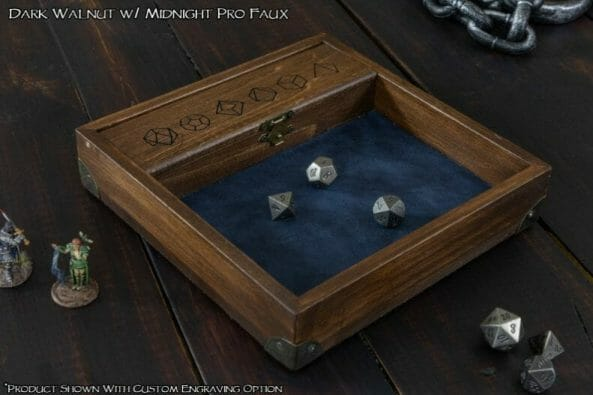 13 Cool Dice Trays for Tabletop Games – best dice trays for wargaming – Warhammer dice tray and storage – best dice tray for Warhammer 40k and miniature games – boardgame dice tray – best dice trays – dice trays for dungeons and dragons, D&D, and roleplaying games (RPG) – Dice tray box with metal corners review