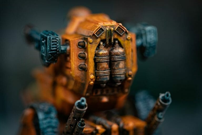 """Oil Painting """"Barnascus"""" (Judgement Miniatures) - How to Paint Tips - Why paint miniatures with oil paint – Barnascus Judgement Miniature – Miniature painting with oil colors – tips for painting miniatures with oil paint – oil painting miniature tutorial – metallic oil paints - looks messy"""