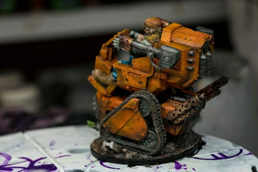 """Oil Painting """"Barnascus"""" (Judgement Miniatures) - How to Paint Tips - Why paint miniatures with oil paint – Barnascus Judgement Miniature – Miniature painting with oil colors – tips for painting miniatures with oil paint – oil painting miniature tutorial – metallic oil paints -weathering the tracks"""