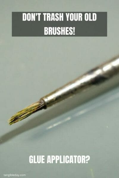 10 Great Ways to Recycle Old Hobby Paint Brushes - Ideas for recycling old brushes - reuse old brushes - recycle paint brushes - ideas to recycle hobby brushes - glue applicator is a unique idea