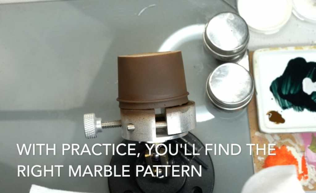 How to paint marble effects on miniatures – painting white marble – painting stone effect miniatures -how to paint marble on miniatures and models – airbrush stencil marble – marbleizing miniatures – airbrushing marble effect - patterned marble stenciling