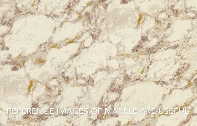 How to paint marble effects on miniatures – painting white marble – painting stone effect miniatures -how to paint marble on miniatures and models – airbrush stencil marble – marbleizing miniatures – airbrushing marble effect - reference image