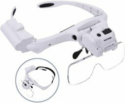 Best hobby magnifying glasses for modeling and miniatures - Chris Spotts The Spotted Painter review magnifying headsets - hands free magnifiers review - feature rich headset magnifier