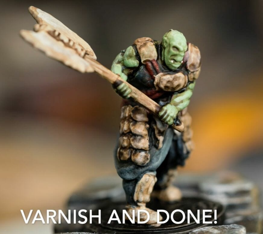 Speed painting tabletop miniatures - How to speed paint RPG miniatures and models - painting bulk dnd miniatures - how to paint models faster for tabletop games - 5 easy steps for painting miniatures fast - varnish your miniature for protection and gameplay