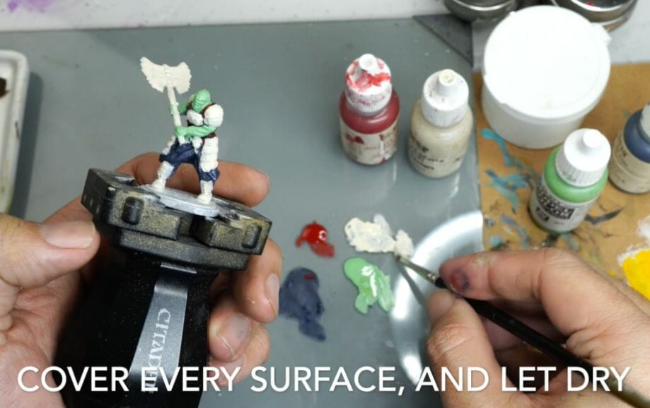 Speed painting tabletop miniatures - How to speed paint RPG miniatures and models - painting bulk dnd miniatures - how to paint models faster for tabletop games - 5 easy steps for painting miniatures fast - paint every surface and let the paint dry