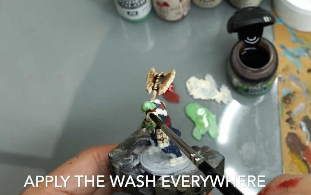 Speed painting tabletop miniatures - How to speed paint RPG miniatures and models - painting bulk dnd miniatures - how to paint models faster for tabletop games - 5 easy steps for painting miniatures fast - apply the wash everywhere