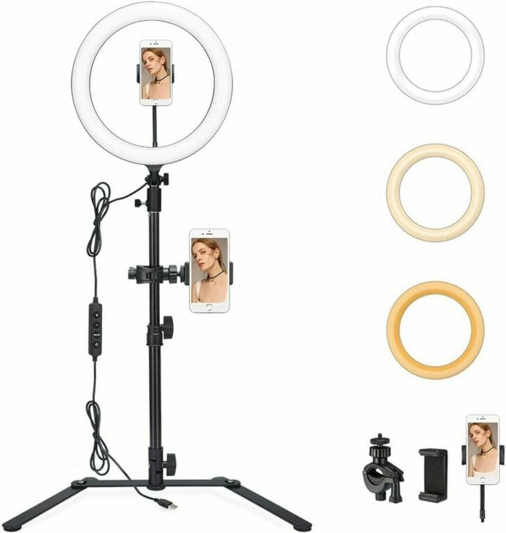 Best LED Ring Lights for Miniature Photography - good lights for photographing miniatures - best lights for taking better pictures of models and miniatures - ring light review for painting miniatures - photography tips for lighting miniatures and models - Godox LR120 desktop ring light for miniature and model photos