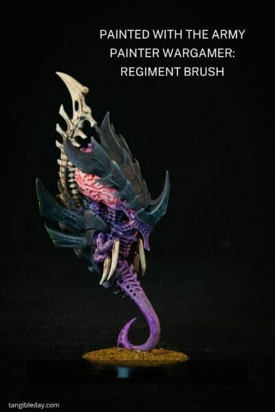 """The Army Painter Wargamer """"Regiment"""" Brush Review for Miniatures - Brush Review of the Army Painter Wargamer Regiment for Painting Miniatures and Models - Regiment Brush Review for miniature painting - Best Army Painter brush for miniatures and models - Regiment brush for painting warhammer 40k and other tabletop wargaming miniatures - tyranid image painted with regiment brush"""