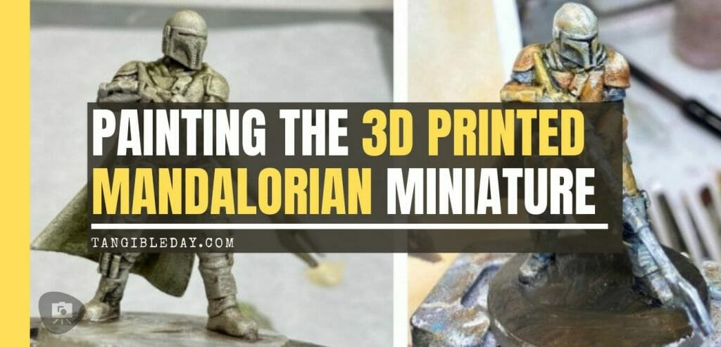 """Oil Painting the Star Wars """"Mandalorian"""" Alla Prima - how to paint a 3D printed resin model with oil paint - speed painting miniatures with oils - banner image"""