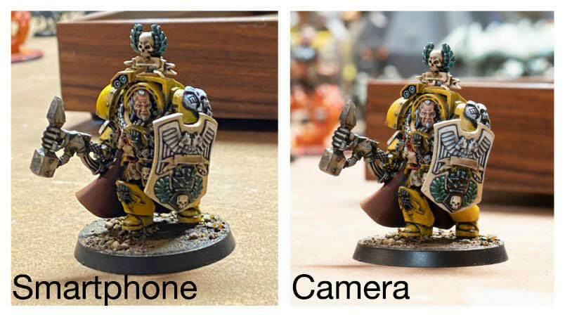 Smartphone Vs Camera for Miniature Photography - Best Camera for Miniature Photography: Smartphone vs Camera – how to take better pictures of miniatures and models – smartphone or camera for miniature photography – take better miniature photos with your smartphone – a comparison between smartphone and camera photos of models and miniatures – wargaming photography - poor ambient light photography