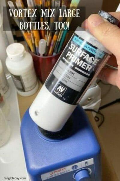 Vortex model paint mixer review - Four E's scientific laboratory vortex mixer - vortexer review for miniature paint - how to use a model paint vortex mixer - tips and review for vortex mixers for miniature and model paint - guide tips for vortex mixing model paint - large volume vortex mixing