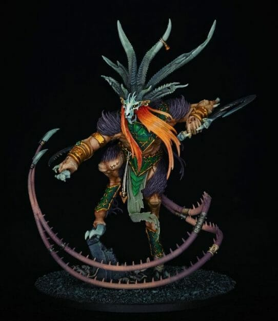 Best LED Ring Lights for Miniature Photography - good lights for photographing miniatures - best lights for taking better pictures of models and miniatures - ring light review for painting miniatures - photography tips for lighting miniatures and models - verminlord corruptor skaven warhammer age of sigmar