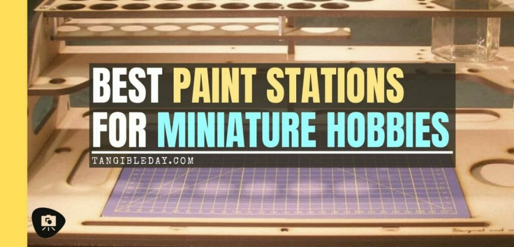 Best miniature painting cases, portable hobby paint station, and miniature paint workstations for modeling and hobbyists – Best portable hobby workstation for painting miniatures and models – tips and guide for paint organizers - model paint case and box - banner