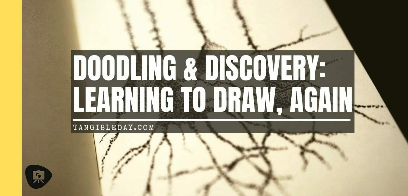 learning to draw again - doodling and discovery - pyramidal neuron sketch and doodling - banner
