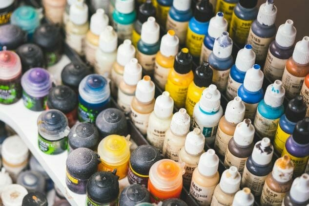 acrylic paints for miniature and model painting - painting miniatures and models with miniature paint sets - best model paint sets for hobbyist