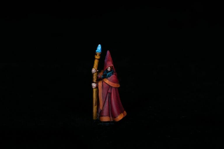 Pros and Cons of a Lightbox - How to Take Better Miniature Photos Without a Lightbox - Tips for Taking Better Pictures of Miniatures and Minis Without a Photobox studio - tips for hobby photography - miniature photography - mage black background