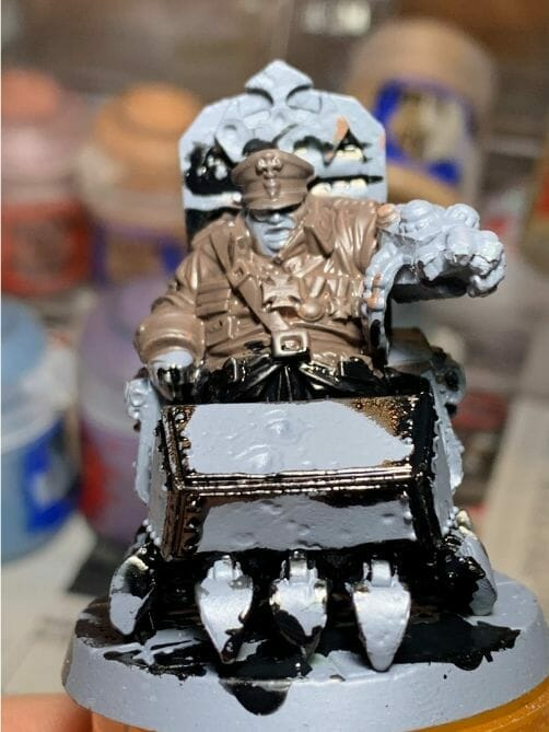 painting comic book miniatures - how to paint comic style miniatures - cel shaded miniature painting – how to paint cel shaded miniature – cell shaded miniature painting – miniature painting styles – how to paint cell shaded – borderlands miniature painting style – comic style painting - black ink spill
