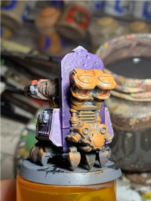 painting comic book miniatures - how to paint comic style miniatures - cel shaded miniature painting – how to paint cel shaded miniature – cell shaded miniature painting – miniature painting styles – how to paint cell shaded – borderlands miniature painting style – comic style painting - painting the mechanicals