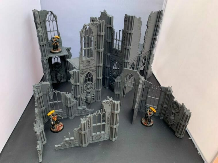Best tabletop terrain on Etsy – Warhammer terrain – wargaming terrain – cool modular tabletop terrain – DIY wargaming terrain for 28mm games – RPG gaming terrain on Etsy - gothic urban ruins wargaming