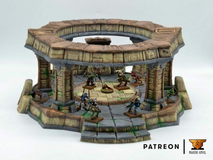 Best tabletop terrain on Etsy – Warhammer terrain – wargaming terrain – cool modular tabletop terrain – DIY wargaming terrain for 28mm games – RPG gaming terrain on Etsy - 3d printed aztec terrain