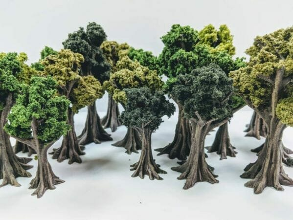 Best tabletop terrain on Etsy – Warhammer terrain – wargaming terrain – cool modular tabletop terrain – DIY wargaming terrain for 28mm games – RPG gaming terrain on Etsy - diy tree miniatures
